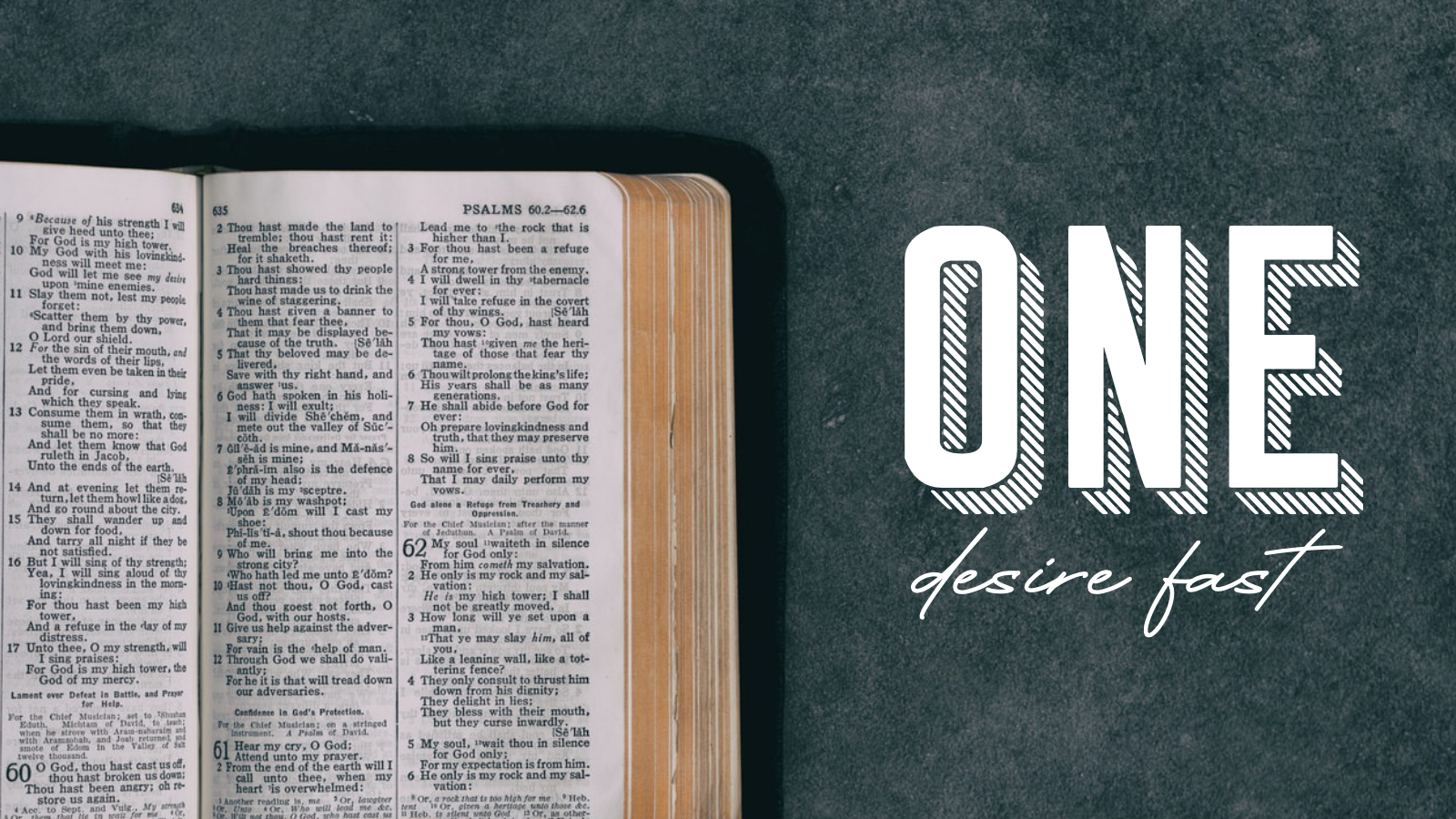One Desire Fast – Part 1: Jesus Fasting